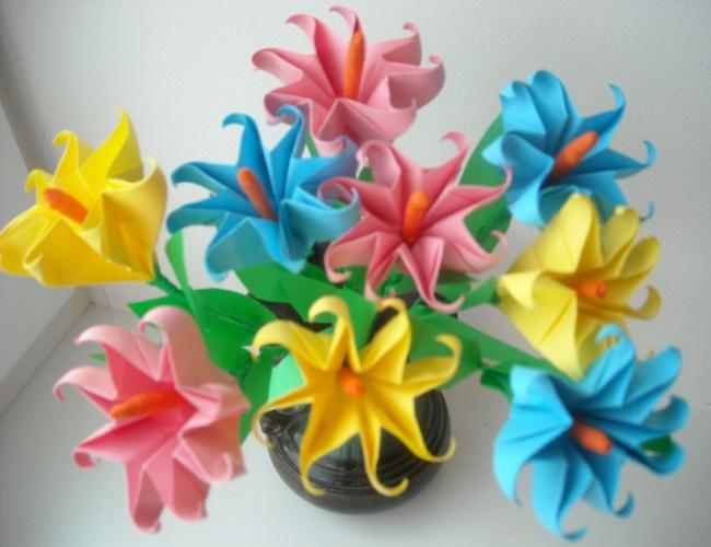 Мастер классы для детей цветы из бумаги