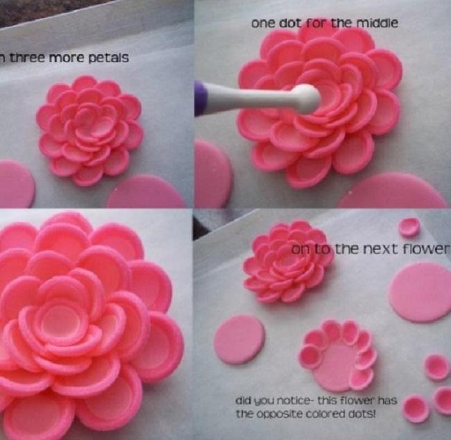 Роза из мастики мастер класс с пошаговым для начинающих схема