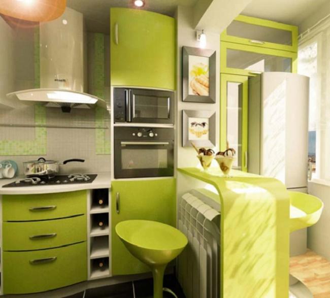 Дизайн кухни в 6 м кв 63