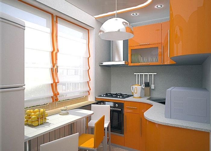 Кухня 6 м2 планировка и дизайн фото