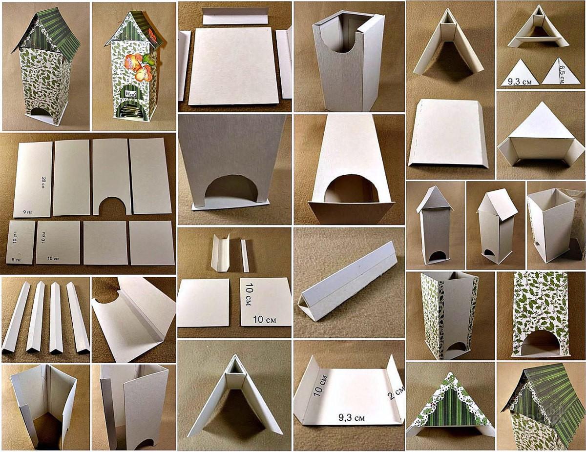 Как сделать чайный домик из картона мастер класс