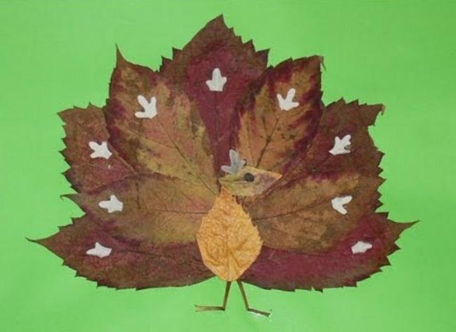 Поделки из листьев фото
