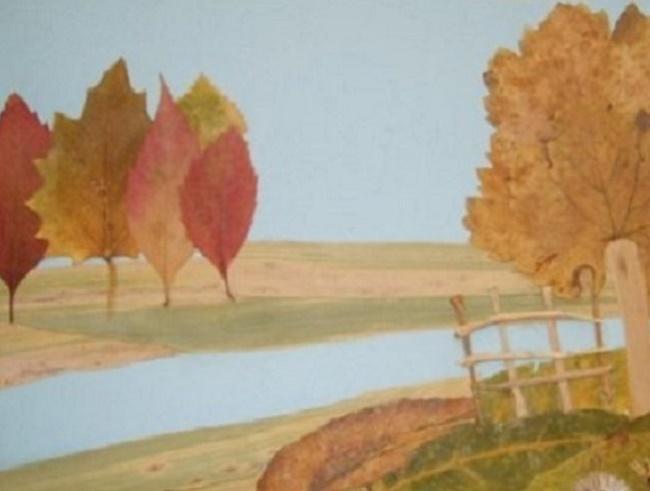 Поделки своими руками из листьев дерева