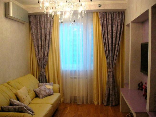 Дизайн штор для гостиной