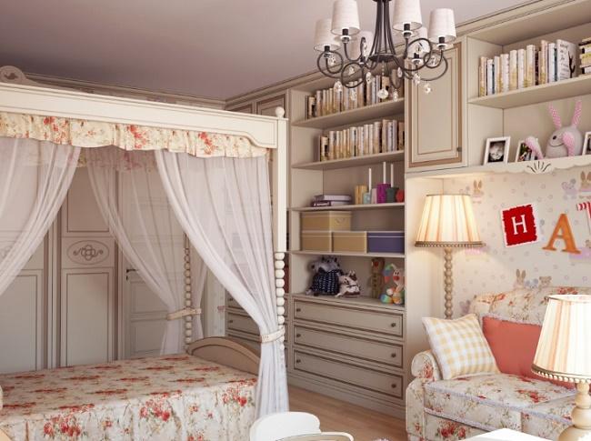 Гламурная комната для девочки-подростка