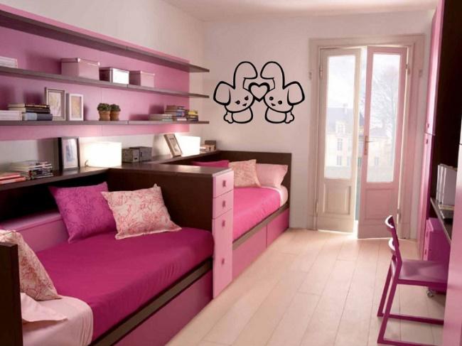 Комната для девочки-подростка в розовых тонах