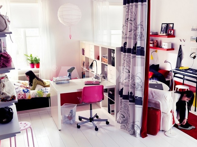 Комната для творческих девочек-подростков