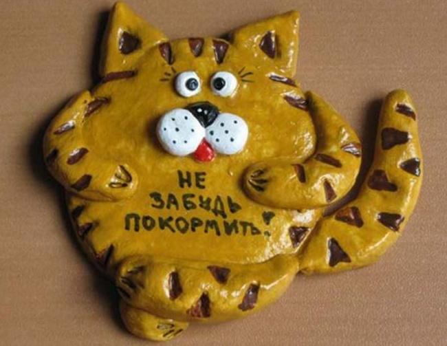 Коты из соленого теста своими руками
