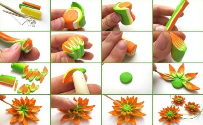 Цветы из полимерной глины своими руками