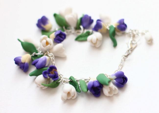 Ожерелье из полимерной глины