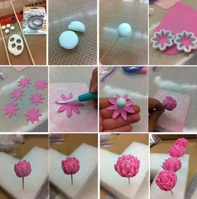 Как делать цветы из полимерной глины
