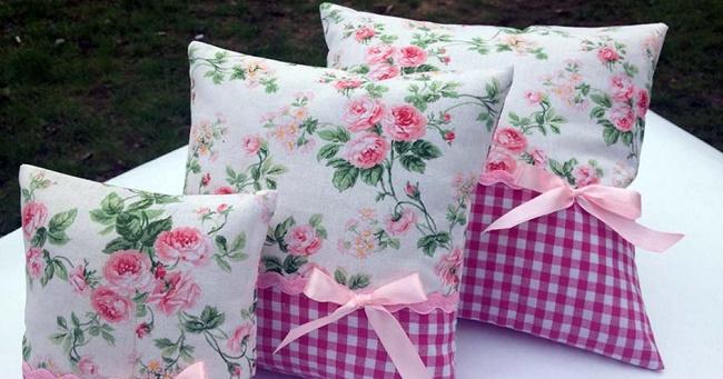 Оригинальные подушки в стиле шебби-шик своими руками