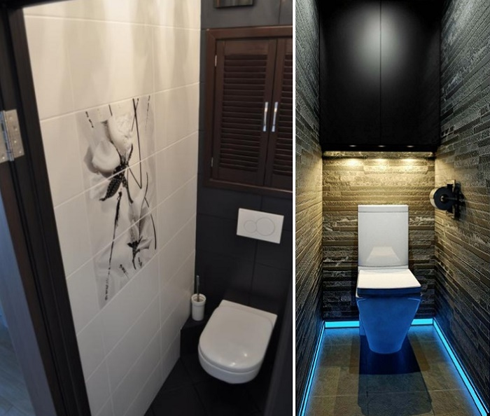 Дизайн маленького туалета