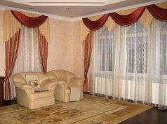 Тюль с портьерами для гостиной