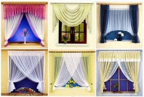 Дизайн и расположение штор