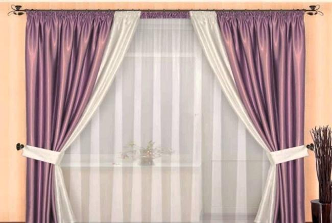 Красивый оконный текстиль фото
