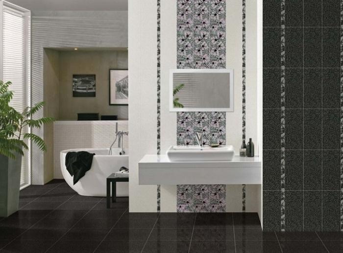 Примеры раскладки плитки в ванной фото