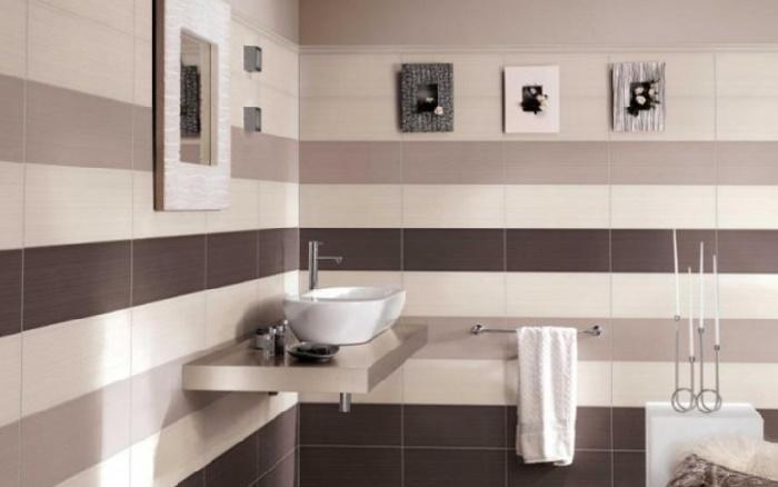 Вариант раскладки плитки в ванной