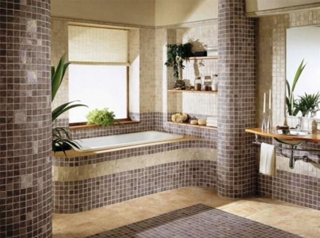 Как красиво выложить плитку в ванной