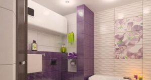 Оригинальная раскладка плитки в ванной