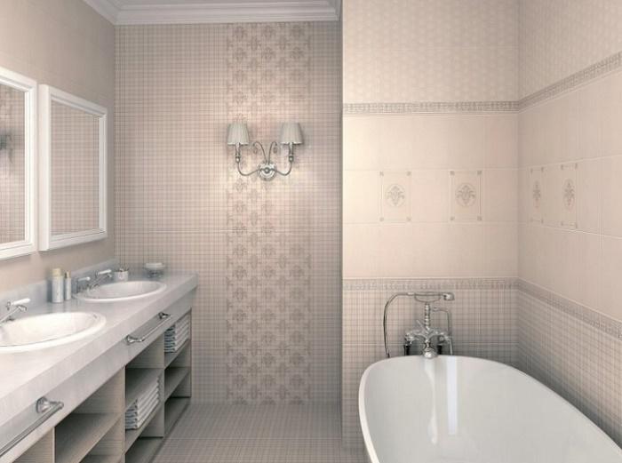 Пример раскладки плитки в ванной фото