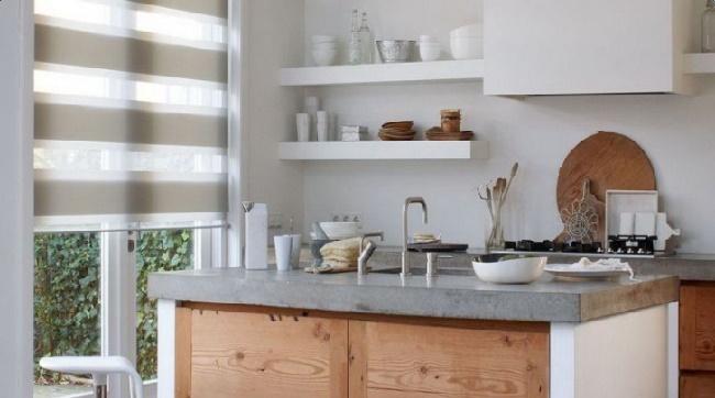 Шторы в кухонном дизайне
