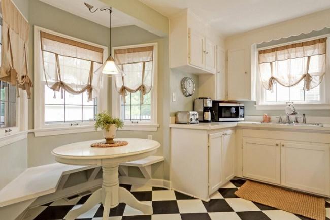 Шторы для кухни дизайн