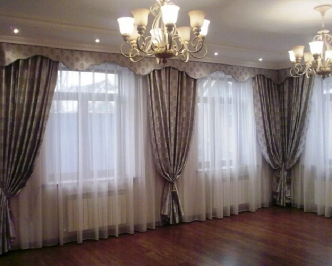 Фото штор для зала