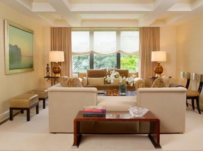 Шторы в дизайне гостиной