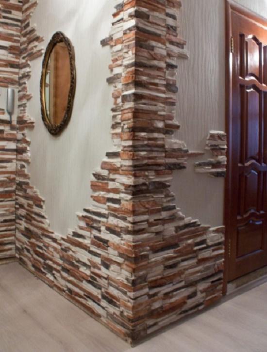 Примеры декора стен камнем фото
