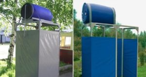 Летний душ, варианты постройки