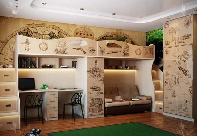 Дизайн детской комнаты для 3-х детей