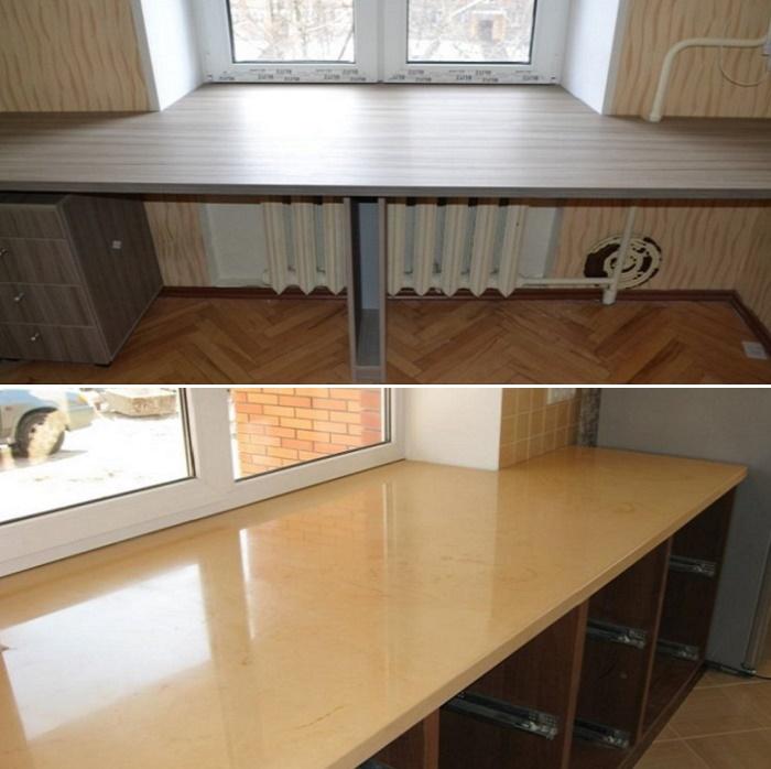 Письменный стол вместо подоконника