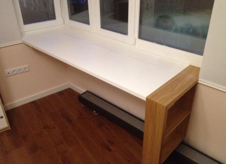 Как совместить подоконник с письменным столом