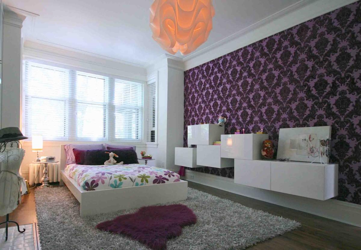 Цвет обоев для спальни