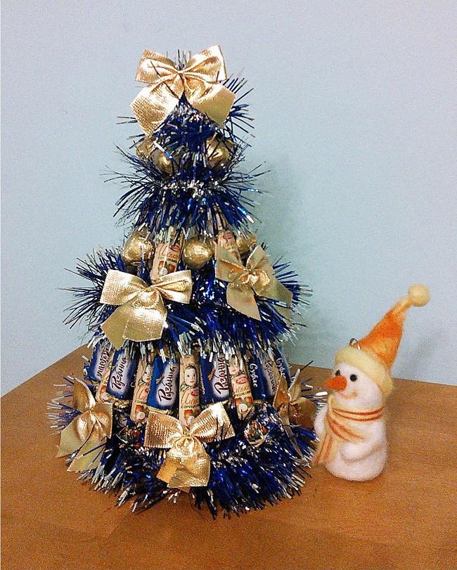 Оригинальная новогодняя елка своими руками фото