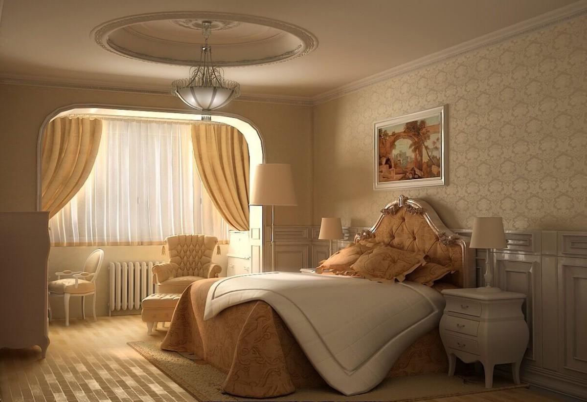 Виды обоев в спальню