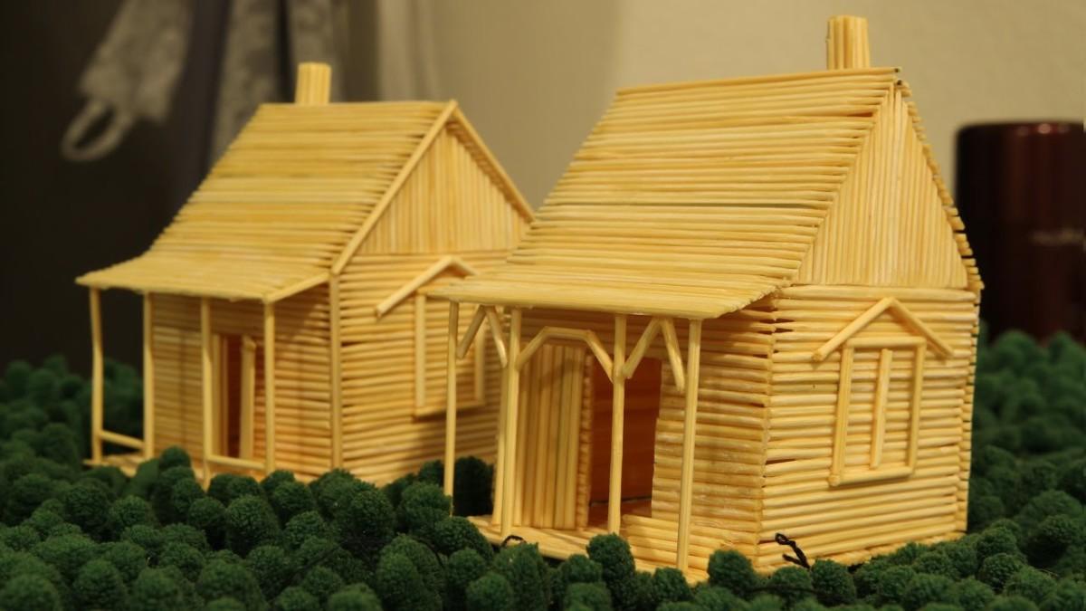 Как сделать домик из зубочисток