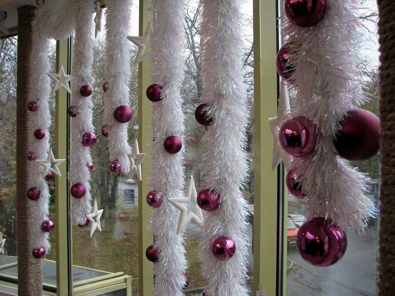 Новогоднее окно фото