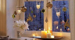 Новогоднее украшение окна