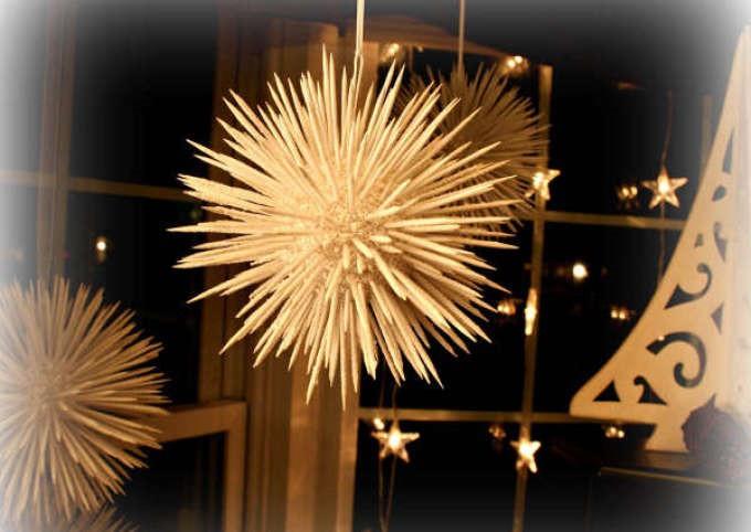 Новогодние поделки из зубочисток