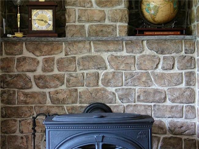Облицовка стен камнем фото