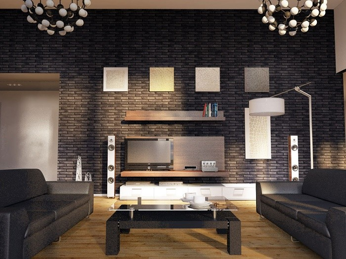 Как отделать стены декоративным камнем