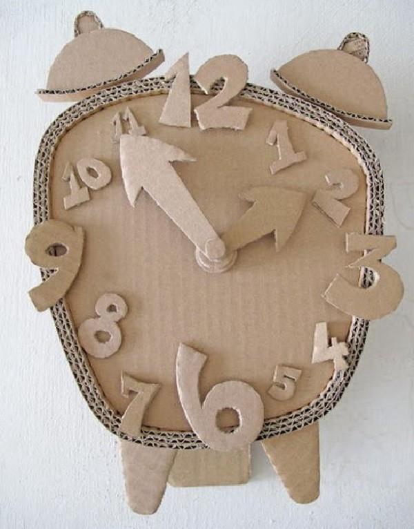 руками своими из детям картона часы