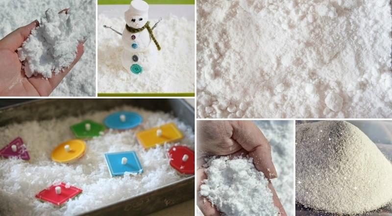 Способы изготовления искусственного снега
