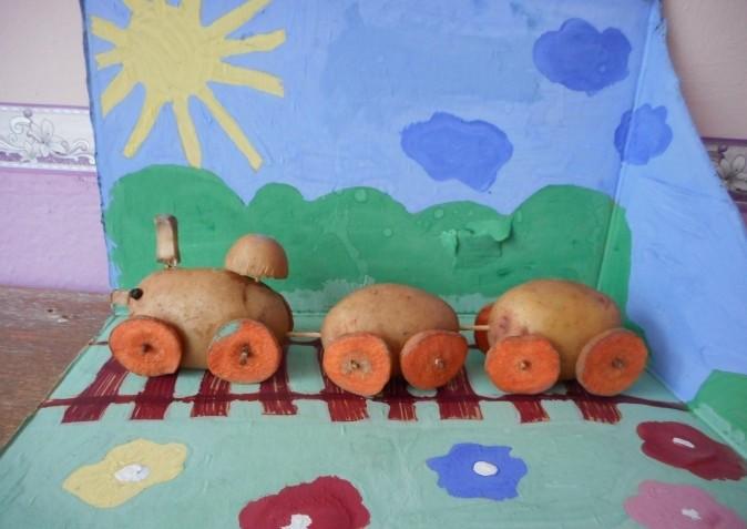 Поделки из картофеля. Особенности, идеи, фото