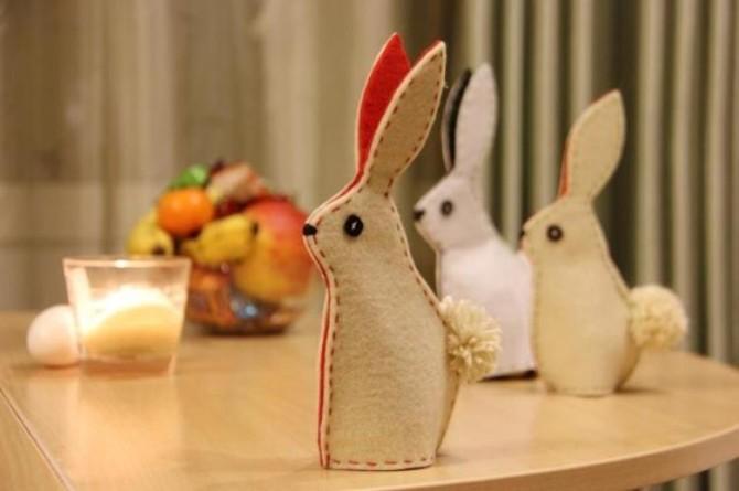 Пасхальный кролик своими руками фото