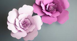 Делаем цветы из бумаги
