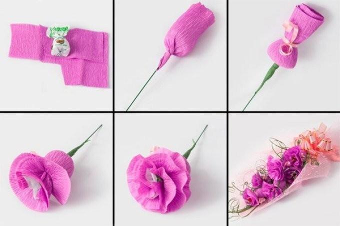 Цветы из бумаги для декора помещений