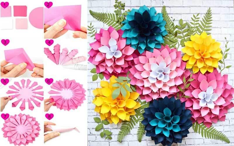 Как сделать цветы из бумаги
